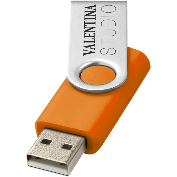 Rotate-basic 1GB USB flash drive - Orange / Silver