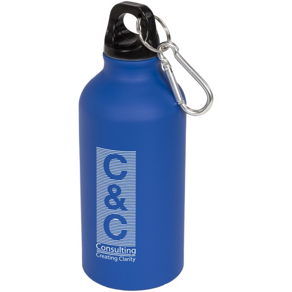 Oregon matte 400 ml Trinkflasche mit Karabiner - Blau