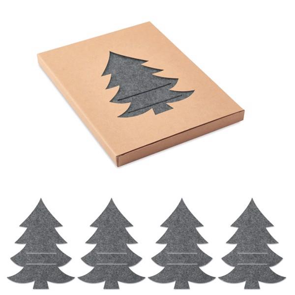 Uchwyty na sztućce, filc RPET Treesguard - szary