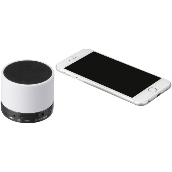 Duck cylinder Bluetooth® speaker with rubber finish - White