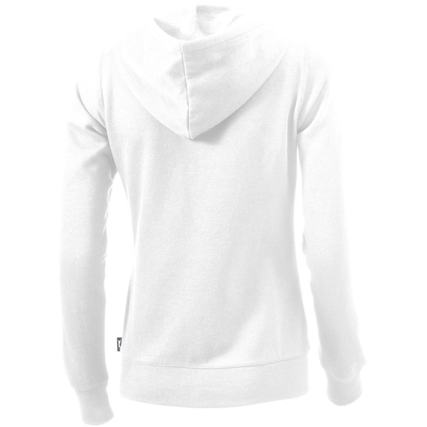 Open full zip hooded ladies sweater - White / L