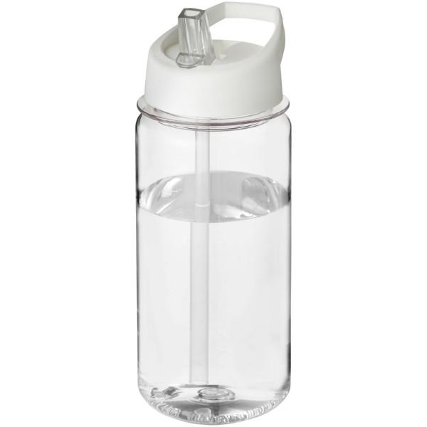 Bidon Octave Tritan™ o pojemności 600 ml z wieczkiem z słomka - Przezroczysty / Biały