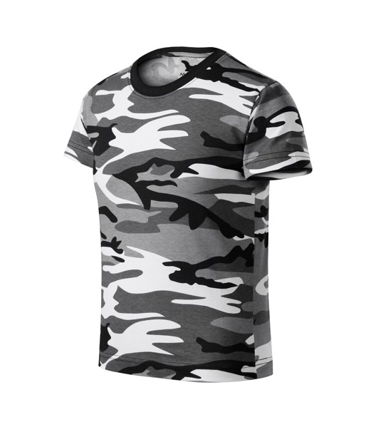 T-shirt Kids Malfini Camouflage - Camouflage Gray / 8 years