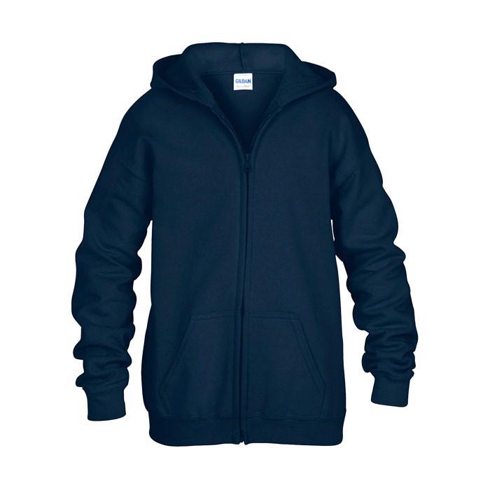 Gyerek pulóver 255/270 g/m2 Kids Full Zip Hooded Sw 18600B - Navy / S