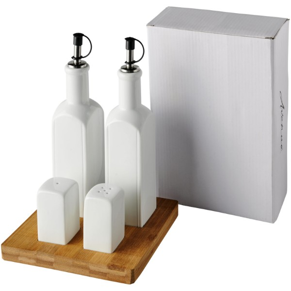 Mateo tabletop condiment set