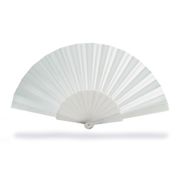 Manual hand fan Fanny - White