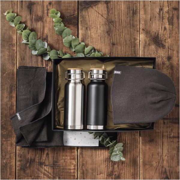 Thor 480 ml sportovní lahev s vakuovo-měděnou izolací - Černá