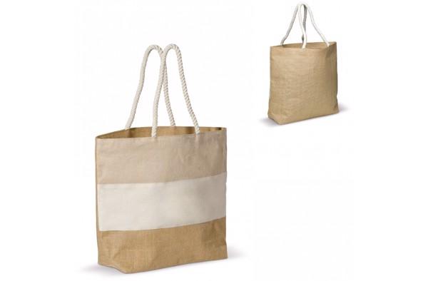 Beach bag jute/juco/canvas