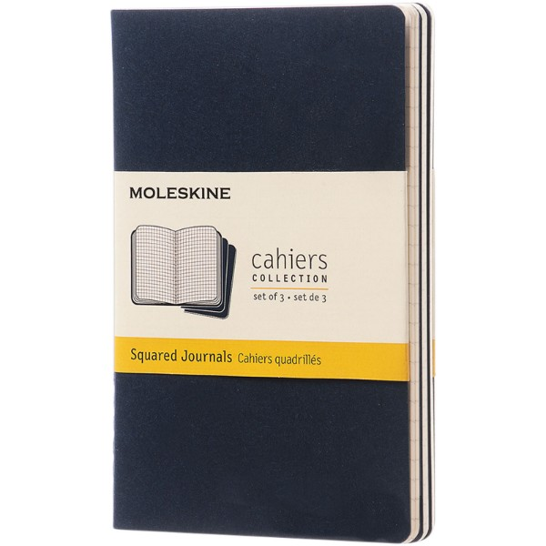 Cahier Journal PK - squared - Indigo blue