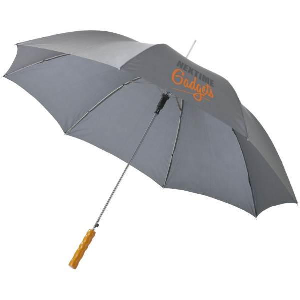 """23"""" deštník Lisa s automatickým otvíráním a dřevěnou rukojetí - Šedá"""