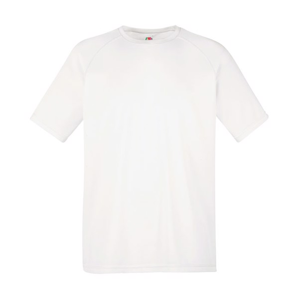 Men's T-Shirt Sports Performance T-Shirt 61-390-0 - White / XXL