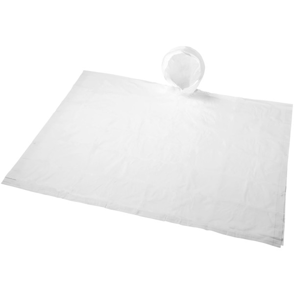 Paulus foldable poncho in pouch - White