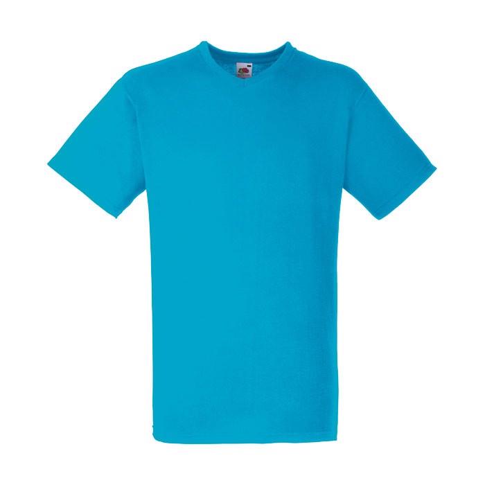 Herren T-Shirt 165 g/m² V-Neck T-Shirt 61-066-0 - Azure Blue / 3XL
