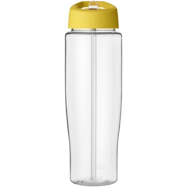 H2O Tempo® 700 ml spout lid sport bottle - Transparent / Yellow