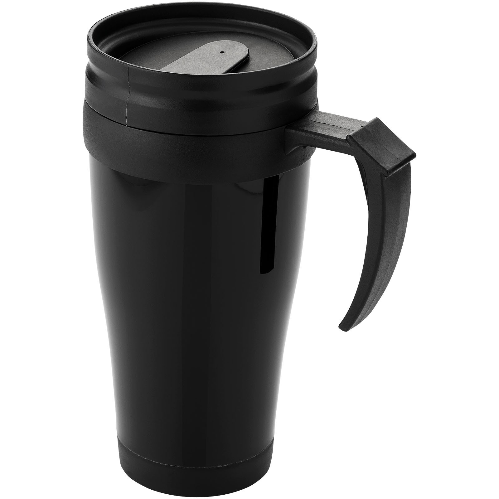 Daytona 400 ml insulated mug - Solid Black