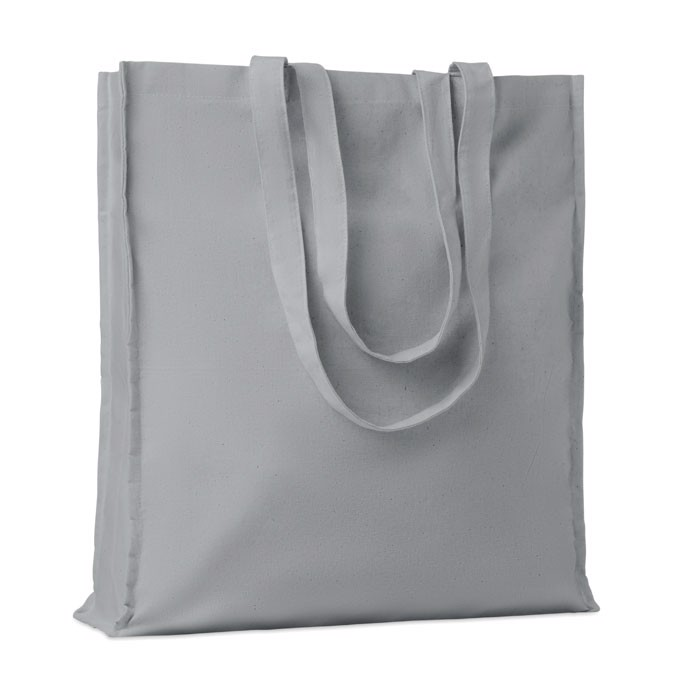Cotton shopping bag w/ gusset Portobello - Grey