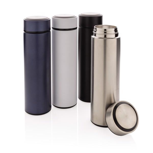 Termo lahev z nerezavějící oceli - Stříbrná