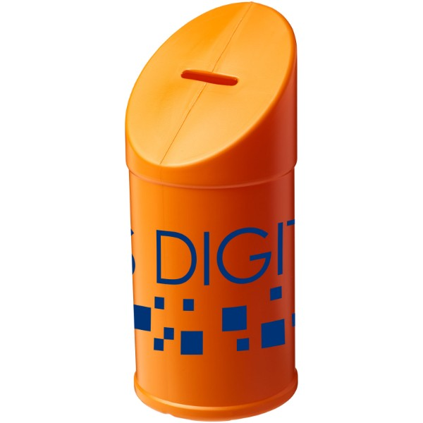 Heba plastic charity collector container - Orange