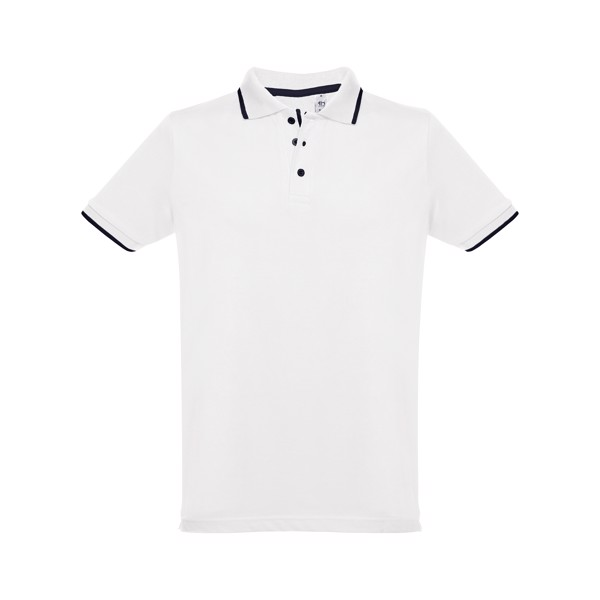 THC ROME WH. Men's slim fit polo shirt - White / XXL