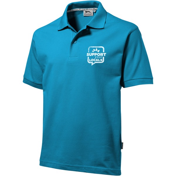 Forehand short sleeve men's polo - Aqua / S