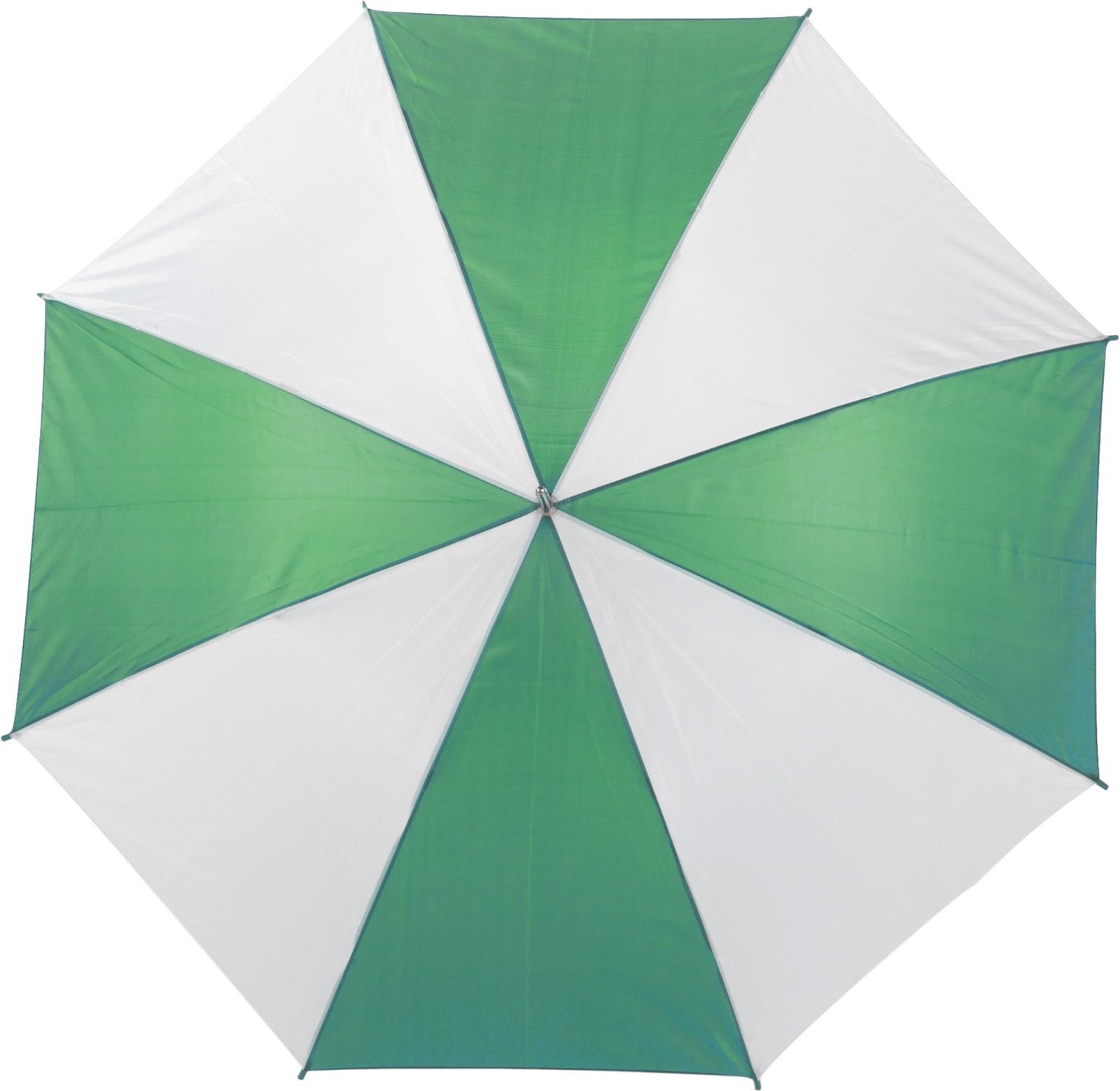 Polyester (190T) umbrella - Green / White