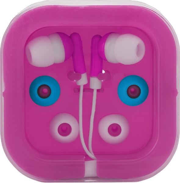 Kopfhörer 'Universal' aus Kunststoff/Metall - Pink