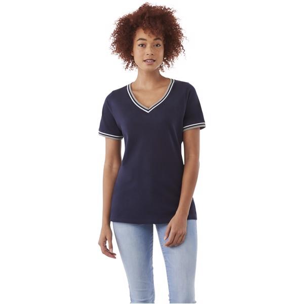 Elbert short sleeve women's pique t-shirt - Navy / Grey Melange / White / XS