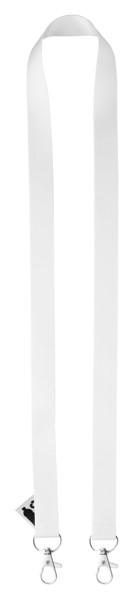 Ovratni trak po meri za sublimacijski tisk iz reciklirane PET plastike Subyard Double – White