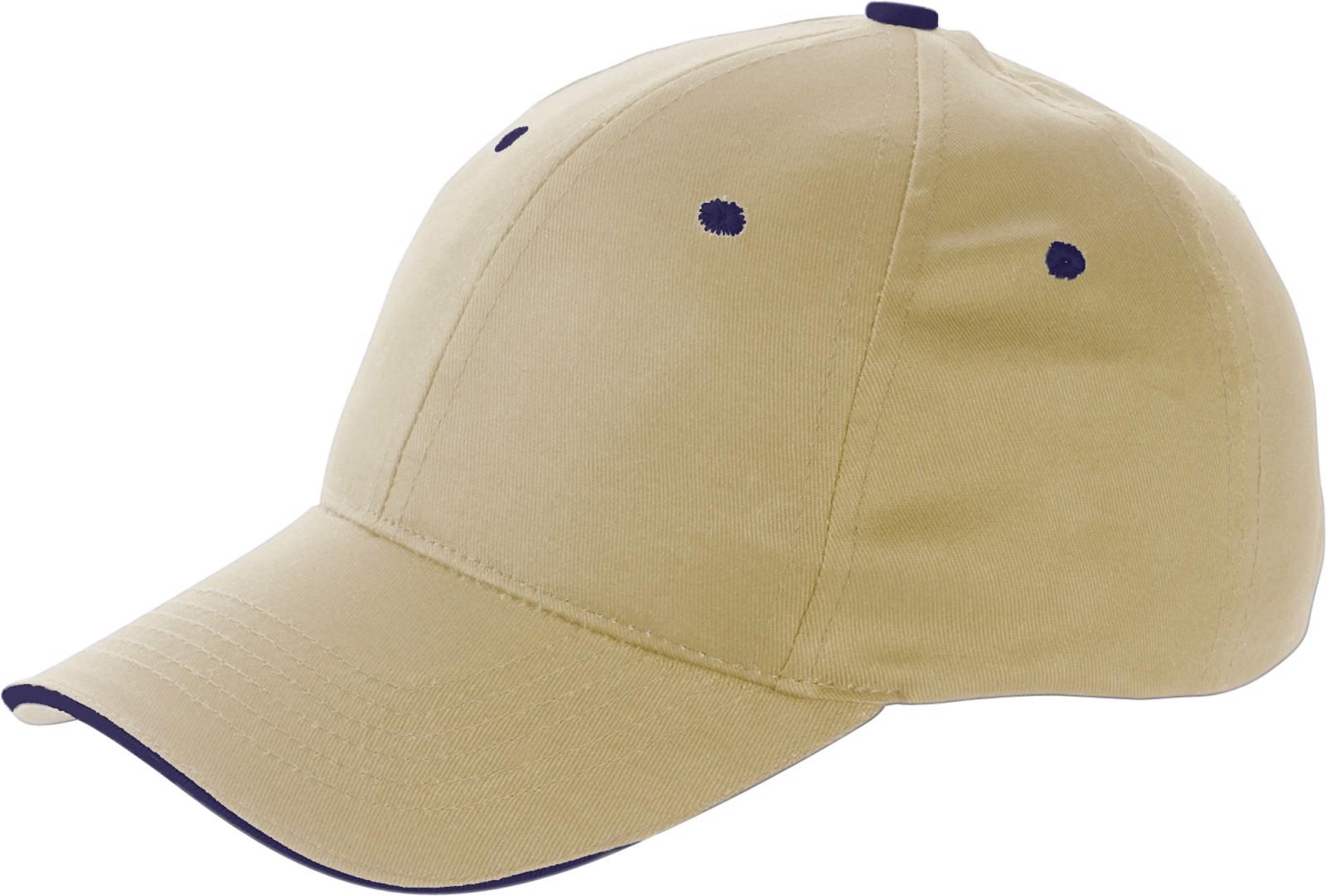 Cotton twill cap - Khaki