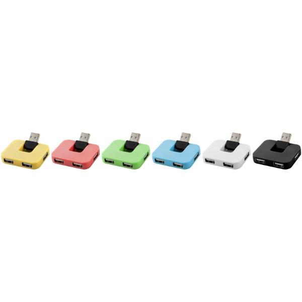 Gaia USB Hub mit 4 Anschlüssen - Schwarz