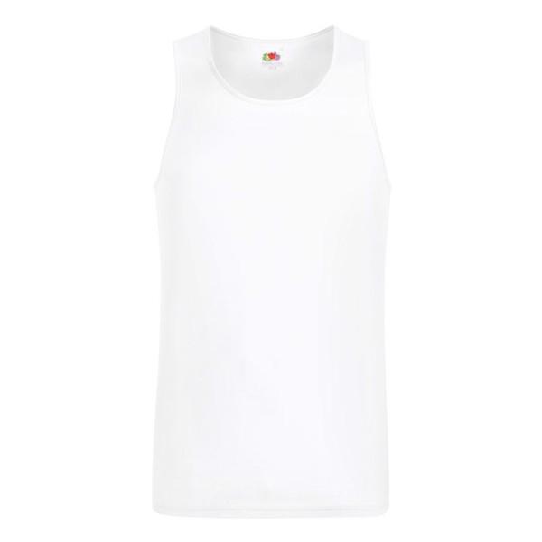 Men's T-Shirt Sports Performance Vest 61-416-0 - White / L