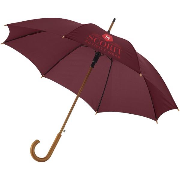 """23"""" deštník Kyle s automatickým otvíráním a dřevěnou tyčí a rukojetí - Hnědý"""