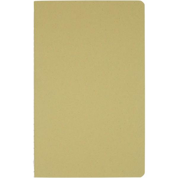 """Libreta con tapa de papel arrugado """"Fabia"""" - Verde oliva"""