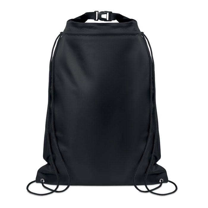 Wasserfester Kordelzugbeutel Debo Bag - schwarz