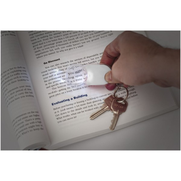 Zoomy magnifier keychain light - Silver