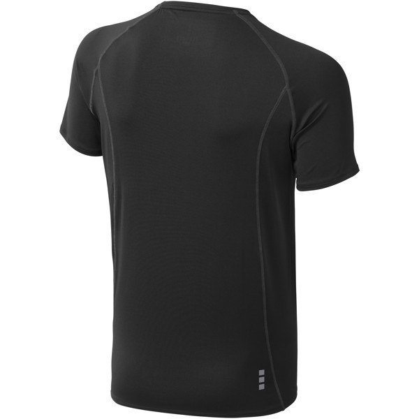 Pánské triko Kingston s krátkým rukávem, s povrchovou úpravo - Černá / S