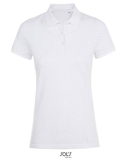 Brandy Women Polo - White / French Navy / XS