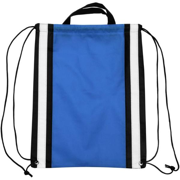 Reflective non-woven drawstring backpack - Royal blue