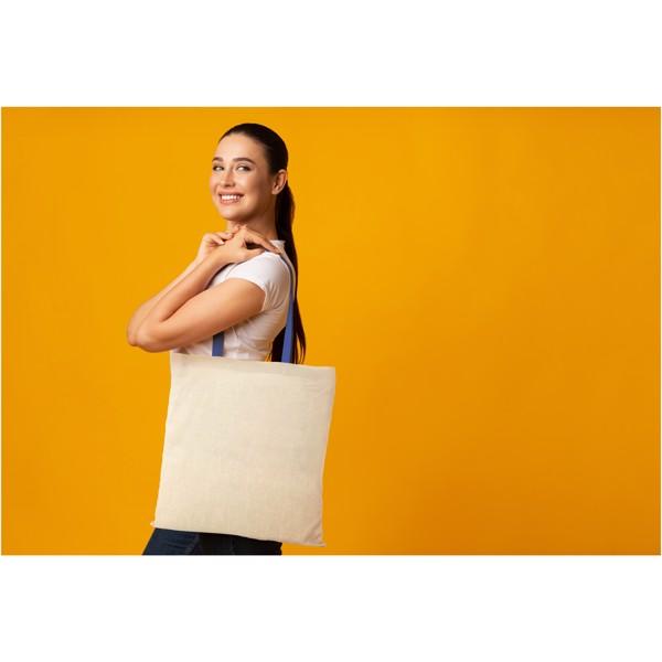 Nevada 100 g/m² cotton tote bag coloured handles - Natural / Yellow