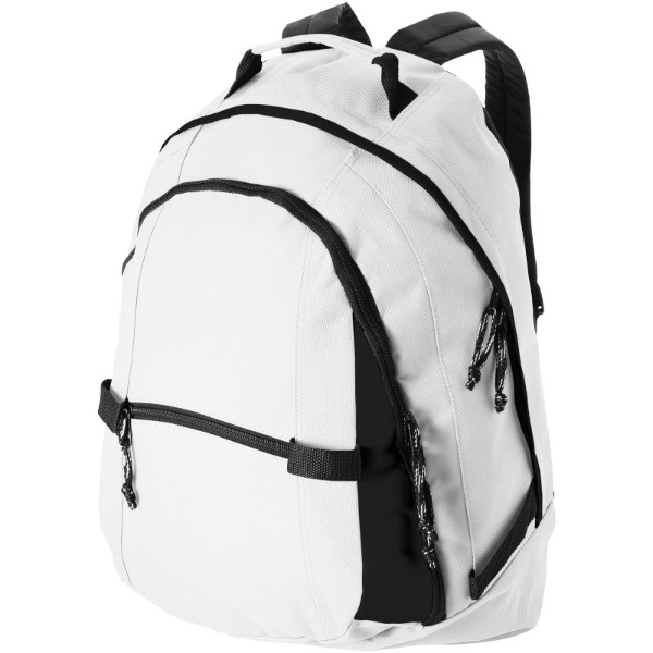 Colorado covered zipper backpack - White / Solid black
