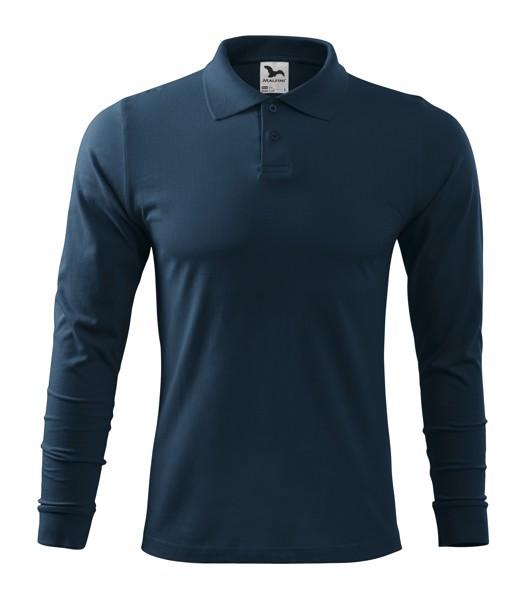 Polo Shirt men's Malfini Single J. LS - Navy Blue / L