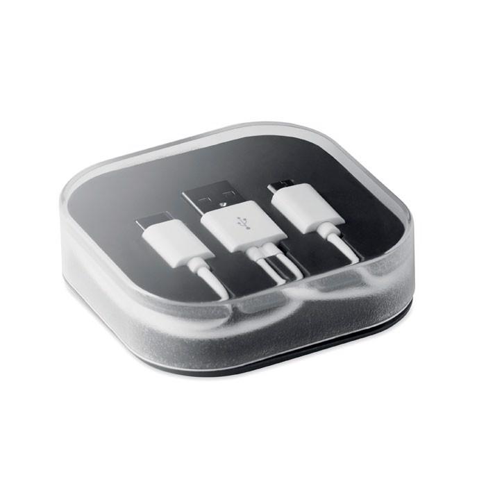 Kable w pudełku Connecti - czarny