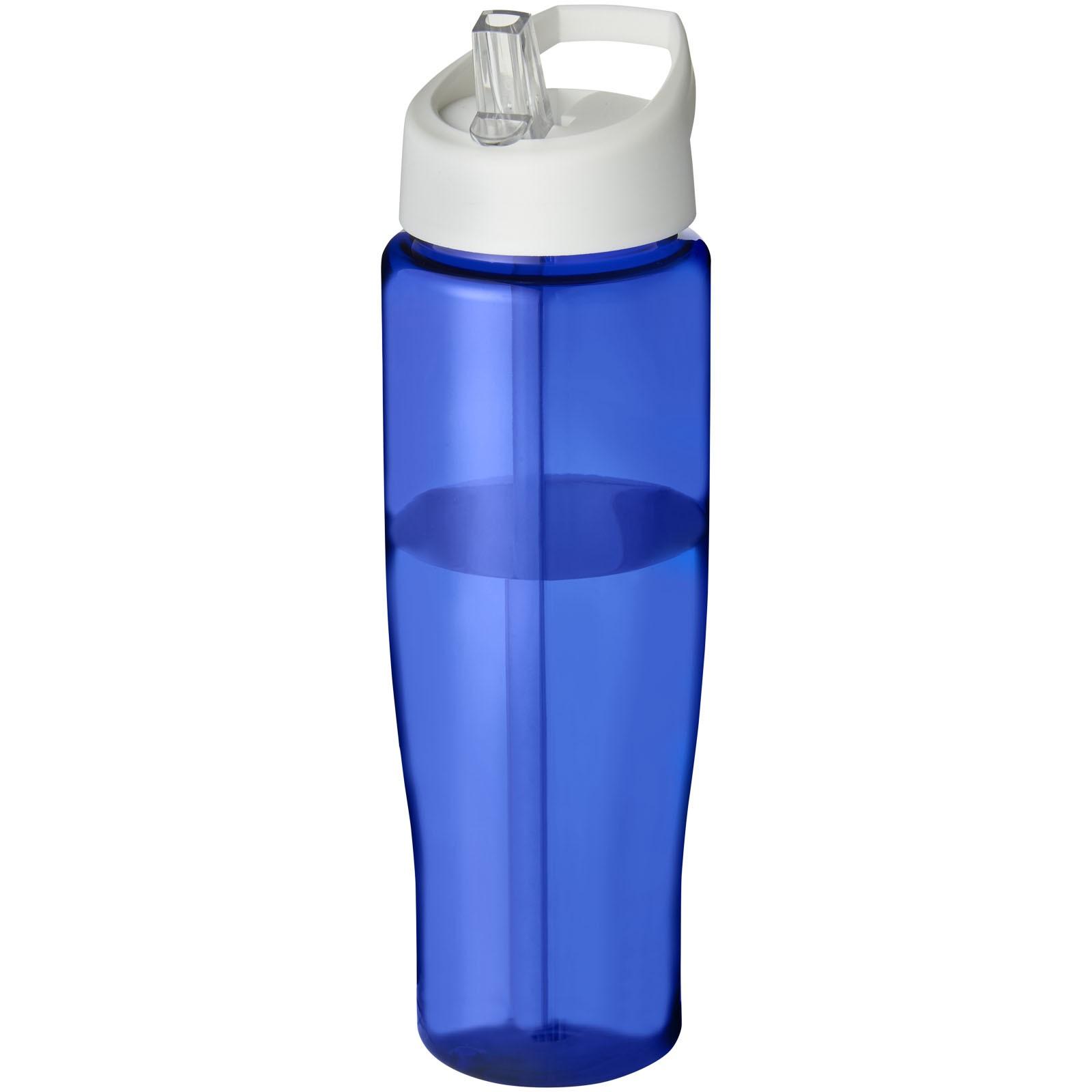 H2O Tempo® 700 ml spout lid sport bottle - Blue / White