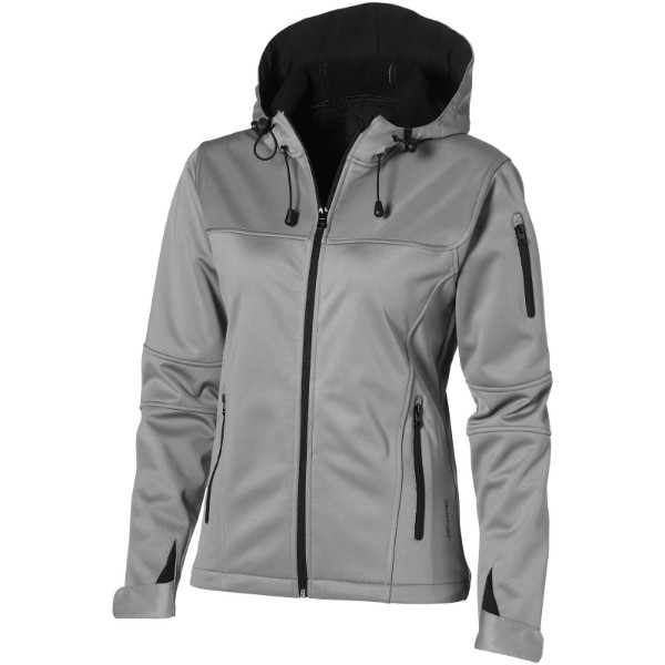 Match ladies softshell jacket - Grey / S