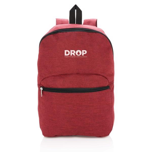 Základní dvoubarevný batoh - Červená