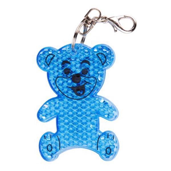 Brelok odblaskowy Teddy - Niebieski