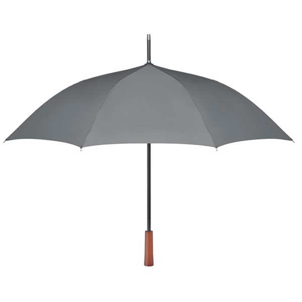 "23"" wooden handle umbrella Galway - Grey"