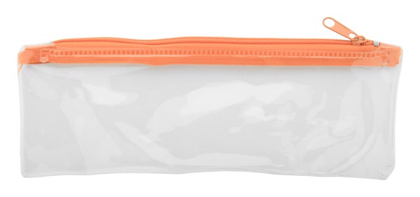 Pen Case Zeppy - Orange / Transparent