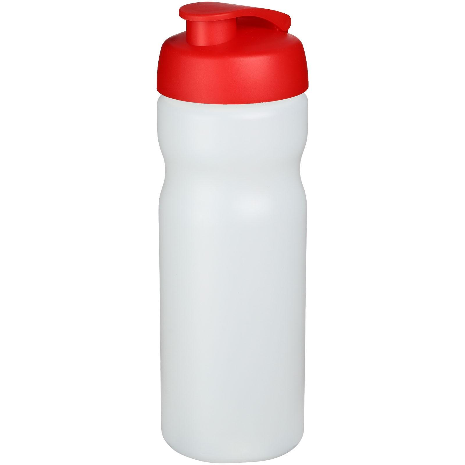 Baseline® Plus 650 ml flip lid sport bottle - Transparent / Red
