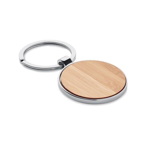 Round key ring metal bamboo Ballarat